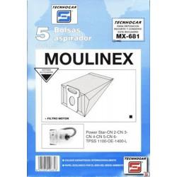 BOLSA ASPIRADOR MOULINEX POWER STAR 910681 UNIDAD - Imagen 1