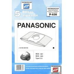 BOLSA ASPIRADOR PANASONIC MCE-601-603 910638 UNIDAD - Imagen 1