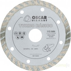 DISCO DIAMANTE TURBO BASICO 115MM. UNIDAD - Imagen 1