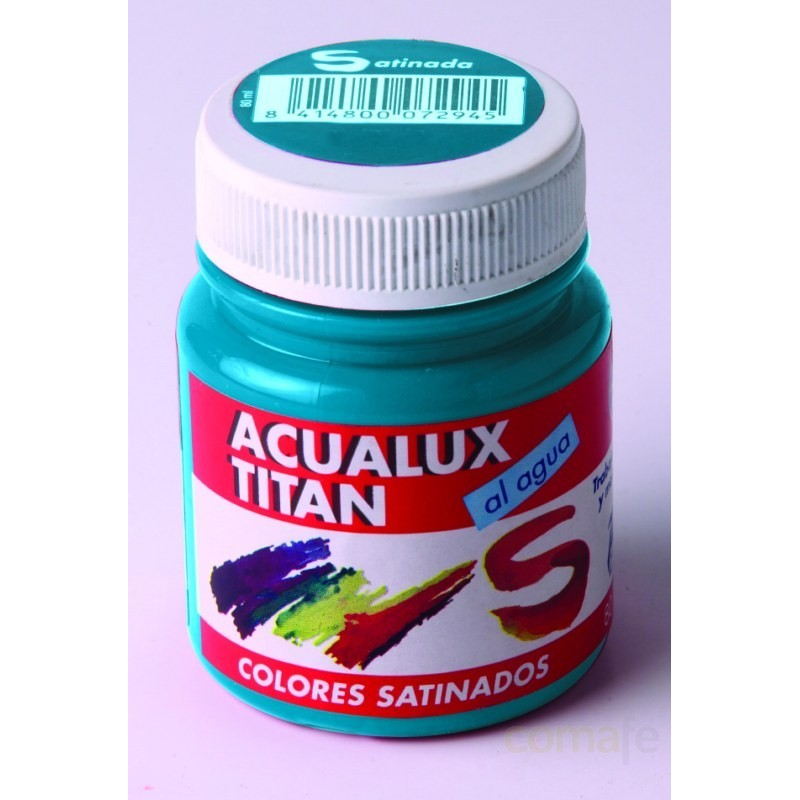 PINTURA MANUALIDADES ACRIL SAT CHOCOLATE TITAN ACUALUX 100ML - Imagen 1