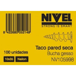 TACO  PARED SECA 10X35 100PZ NIVEL - Imagen 1