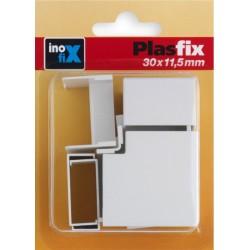CANALETA ELEC 30X11,5MM PVC BL ACCS INOF - Imagen 1