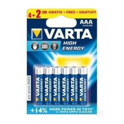 PILA ALCALINA LR03 AAA 1,5V HIGH ENERGY - Imagen 1