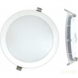 DOWNLIGHT LED EMPOTRAR PLANO PLATA-6000K 18W - Imagen 1