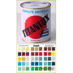 ESMALTE SINTETICO BRILLAN TITANLUX ROJO INGL 375ML 001055538 - Imagen 1