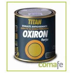 ESMALTE P/METAL FORJA GRIS ACERO 750ML OXIRON TITAN020020234 - Imagen 1
