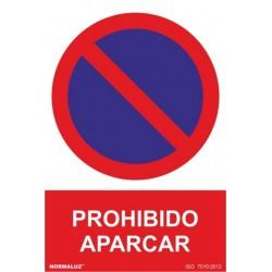 CARTEL SEÑAL 210X300MM PVC PROHIBIDO APA - Imagen 1