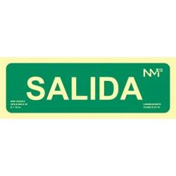 """SEÑAL LUMIN. """"SALIDA"""" 10.5X30 RD12104 - Imagen 1"""