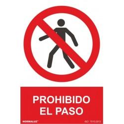 SEÑAL PROHIBIDO EL PASO 21X30 RD40002 - Imagen 1