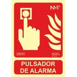 SEÑAL PULSADOR ALARMA 21X30 - Imagen 1