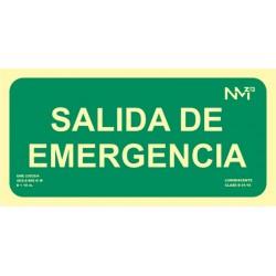 SEÑAL SALIDA DE EMERGENCIA 15X30 LUMINISCENTE - Imagen 1