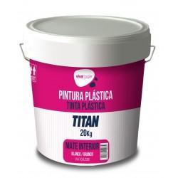 PINTURA PLASTICA VIVAHOGAR MATE BLANCA EXTERIOR FACHADA 20KG - Imagen 1