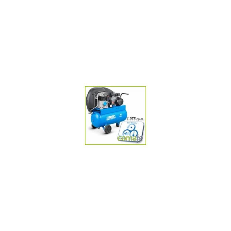 COMPRESOR CORREAS  50LT C/ACEITE 2CV 10BAR 255L/MIN - Imagen 1