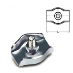 SUJETACABLE PLANO SIMPLE M04 ACERO CINC - Imagen 1