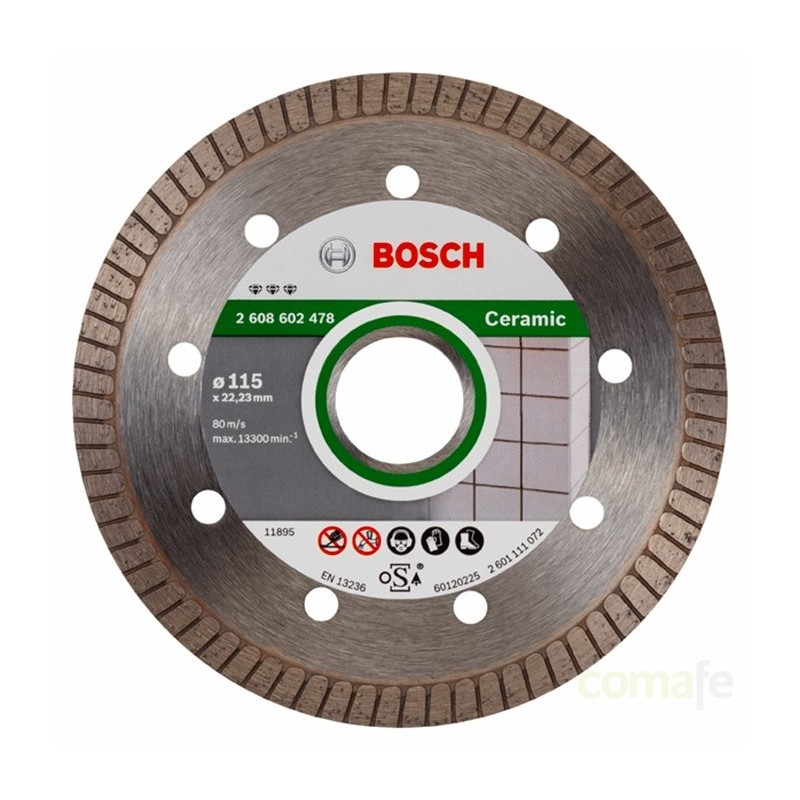 DISCO DIAMANTE PORCELANICO TURBO 115MM 1,4MM 2608602478BOSCH - Imagen 1