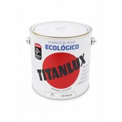 ESMALTE ACRIL BRI. 2,5 LT BL AL AGUA ECOLOGICO TITANLUX - Imagen 1