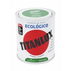ESMALTE ACRIL SAT. 750 ML VER/PRI AL AGUA ECOLOGICO TITANLUX - Imagen 1