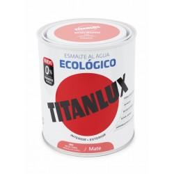 ESMALTE ACRIL MATE 750 ML RO/COR AL AGUA ECOLOGICO TITANLUX - Imagen 1