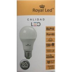 LAMPARA ILUMIN LED ESTAN E27 10W 1000LM  4200K ROYAL LED - Imagen 1