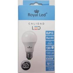 LAMPARA ILUMIN LED ESTAN E27 13W 1300LM 6400K ROYAL LED - Imagen 1