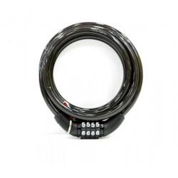 CANDADO ANTIRROBO BICICL 8X1500CM CABLE - Imagen 1