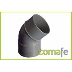 CODO PVC EVACUACION M-H 45º Ø 90 - Imagen 1