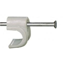 GRAPA CABLE ELECTR FISCHER PLAST.BLANCA GC 8 - Imagen 1