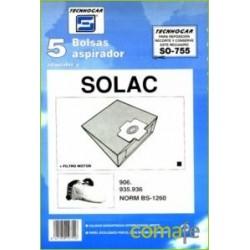 BOLSA ASPIRADOR SOLAC 935-936 5P.755 - Imagen 1