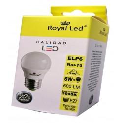 LAMPARA ILUMIN LED ESF. E27 6W 600LM 300 - Imagen 1