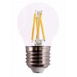 LAMPARA ILUMIN LED ESF. FILAMENTO E27 4W 490LM 2700K CLARA R - Imagen 1