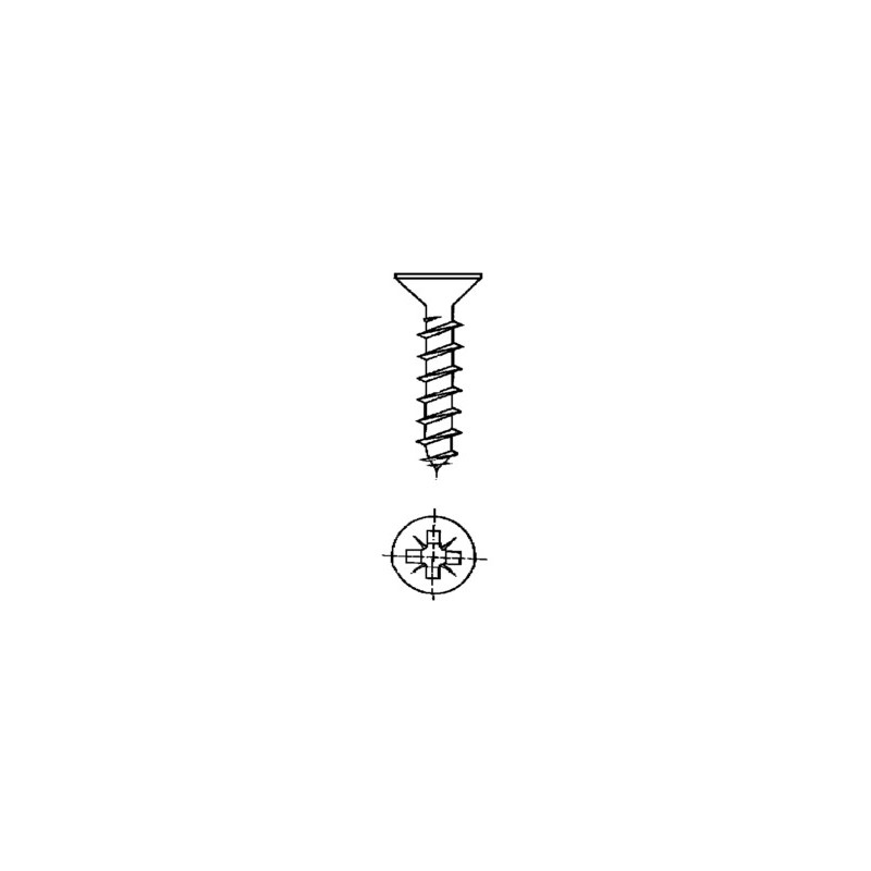 TORNILLO R/MAD. 03,5X40MM CINC NIVEL 16 PZ - Imagen 1