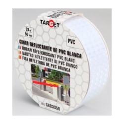 CINTA ADH 50MMX33MT SEÑALIZACION REFLECTANTE PVC BLANCA TARG - Imagen 1