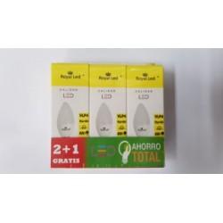 LAMPARA ILUMIN LED VELA E14 4W 400LM 6400K ROYAL LED 3 PZ - Imagen 1