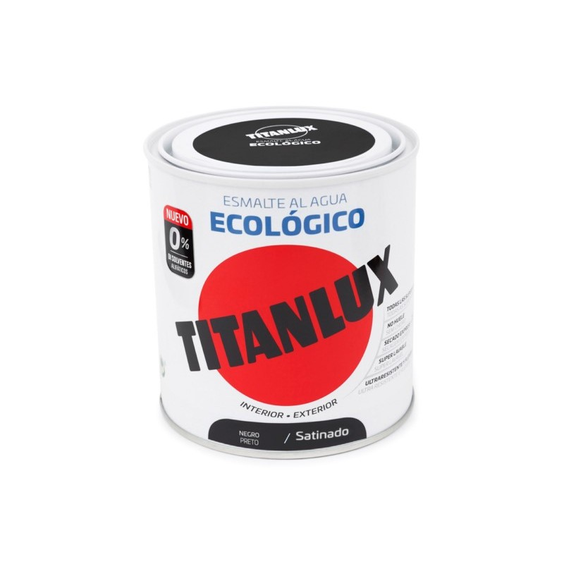 ESMALTE ACRIL SAT. 250 ML NE AL AGUA ECOLOGICO TITANLUX - Imagen 1