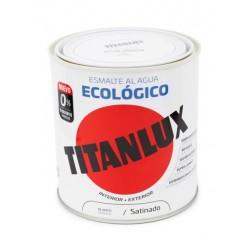 ESMALTE ACRIL SAT. 250 ML BL AL AGUA ECOLOGICO TITANLUX - Imagen 1