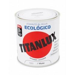 ESMALTE ACRIL MATE 250 ML BL AL AGUA ECOLOGICO TITANLUX