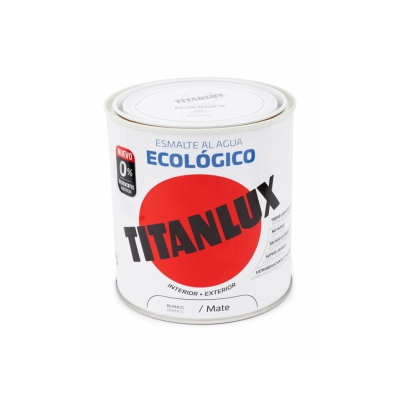 ESMALTE ACRIL MATE 250 ML BL AL AGUA ECOLOGICO TITANLUX - Imagen 1