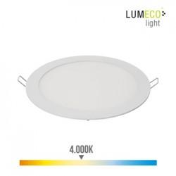 FOCO ILUMIN 20W 1500LM 4000K Ø19,5CM DOWNLIGHT EDM ALU/PLAST - Imagen 1