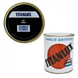 ESMALTE SINT BRI. 375 ML NE INT/EXT TITAN TITANLUX - Imagen 1