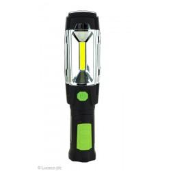 LAMPARA TRABAJO LED 3W 300LM 6500K REC. USB PL NEG/VER LUCEC - Imagen 1