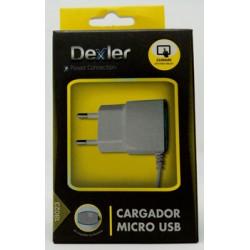 CARGADOR MULTIMEDIA MICRO USB 2,1A/1,2M DEXLER 0 - Imagen 1