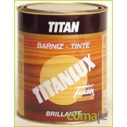 BARNIZ TINTE SINTET BRILLA TITANLUX CASTAÑO 500ML 037100112 - Imagen 1