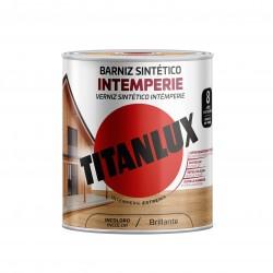 BARNIZ MADERA BRILLO 250 ML INCOLORO SINTETICO INTEMPERIE EXT. TITANLUX