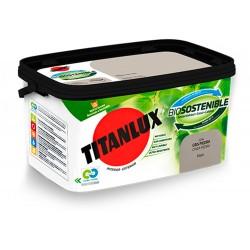 PINTURA PLASTICA INT/EXT ANTIBACTERIAS TITANLUX 4 LT BL/PIEDRA - Imagen 1