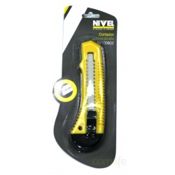 CUTTER PLASTICO 18 MM NIVEL