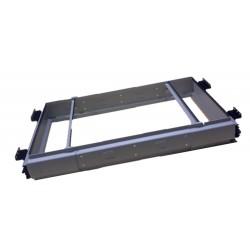 ARCHIVADOR EXTENSIBLE MUEBLE 360X650/820MM MET RAL 9006 GRIS - Imagen 1