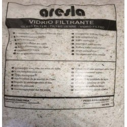 VIDRIO FILTRANTE DEPURADORA 20KG/ 2-3MM ARESLA VIDRIO 11241 - Imagen 1