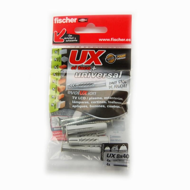 TACO UX 8X40 + TORNILLO 5X50 4PZS