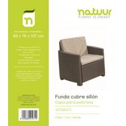 FUNDA CUBRE SILLON 89X76X107CM PVC VERDE TY912 - Imagen 1