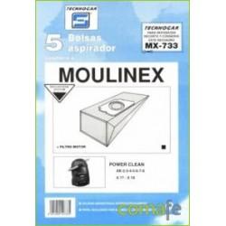 BOLSA ASPIRADOR MOULINEX POWER 5P.733 - Imagen 1